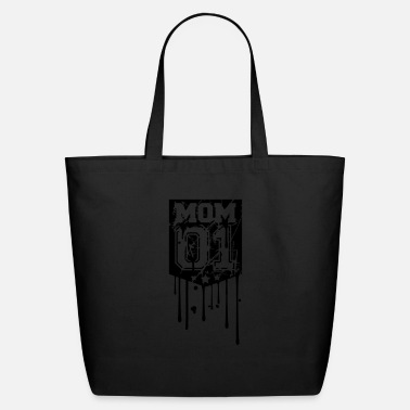 Numbers Graffiti graffiti drops cracks scratch 01 mom number text s - Eco-Friendly Tote Bag