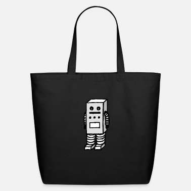 Stupid Kid Stupid Robot - Eco-Friendly Tote Bag