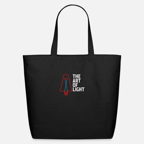 Art Bags & Backpacks - The art of light - Eco-Friendly Tote Bag black
