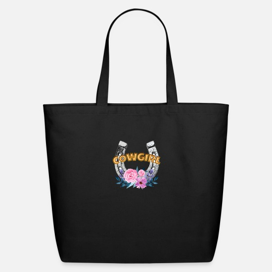 Girl Bags & Backpacks - Cow Girl - Eco-Friendly Tote Bag black