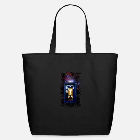 Miscellaneous Bags & backpacks - Tardis bigger on the inside - Eco-Friendly Tote Bag black