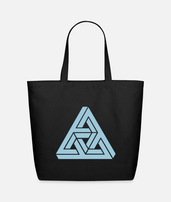Escher Bags & Backpacks - Impossible triangle optical illusion, Escher, - Eco-Friendly Tote Bag black