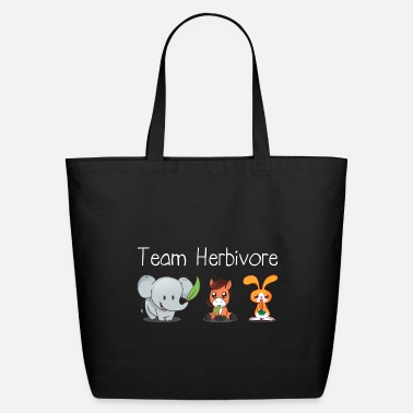 Diet Vegan Team Herbivore - Eco-Friendly Tote Bag