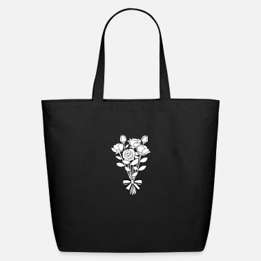 bouquet clipart outline flower 12 Tote Bag | Spreadshirt