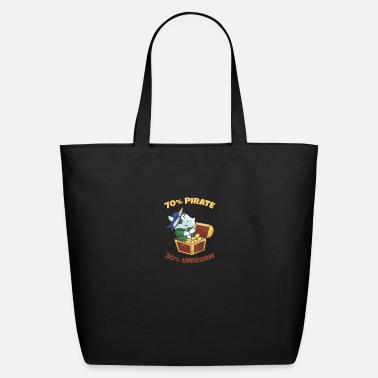 Cutthroat Island 70% pirate 30% unicorn gift - Eco-Friendly Tote Bag