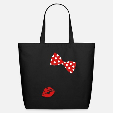 A red lipstick imprint - Eco-Friendly Tote Bag