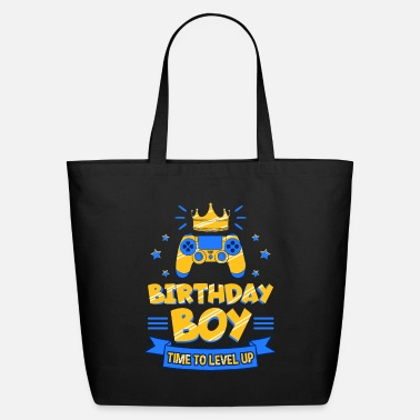 Video Birthday Boy Time To Level Up - Eco-Friendly Tote Bag
