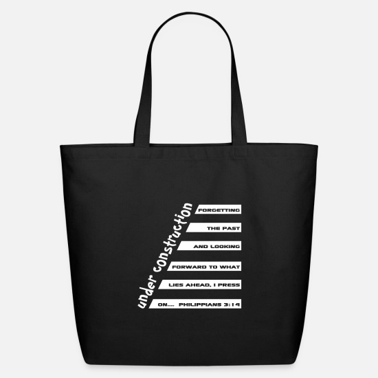 Christian Bags & Backpacks - Christian Design - Under Construction - - Eco-Friendly Tote Bag black