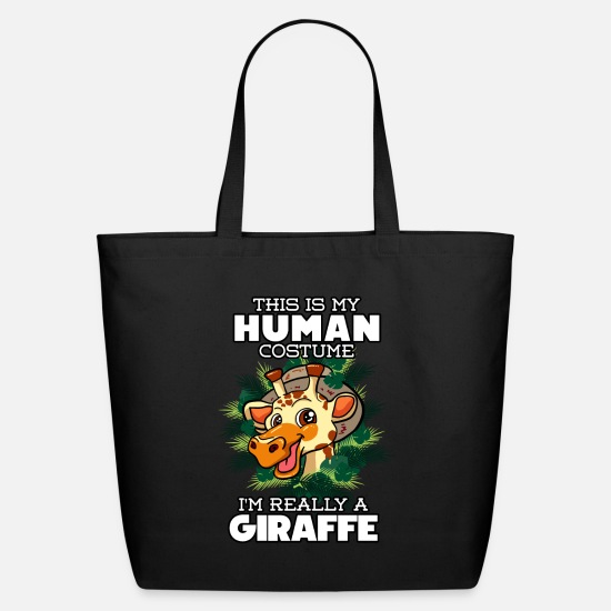 Giraffe Bags & Backpacks - I'm Really A Giraffe - Eco-Friendly Tote Bag black