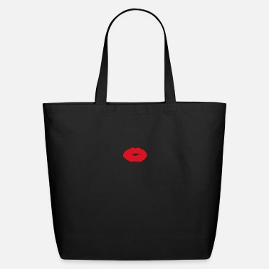 Lipstick red lips tshirts for women and face mask with lips - Eco-Friendly Tote Bag