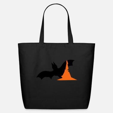 Halloween Halloween bat with witches hat - Eco-Friendly Tote Bag
