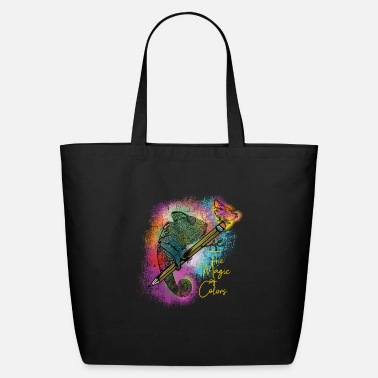Central America Chameleon and butterfly - the magic of colors - Eco-Friendly Tote Bag