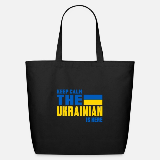 Country Bags & Backpacks - Keep Calm Ukraine / Gift National Colors - Eco-Friendly Tote Bag black