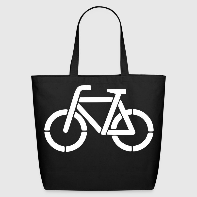 bicycle stencil - Eco-Friendly Cotton Tote