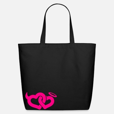 devil & angel hearts - Eco-Friendly Cotton Tote