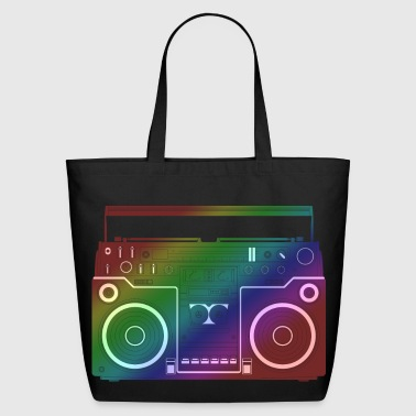 Ghetto-blaster Rainbow Ghetto Blaster - Eco-Friendly Cotton Tote