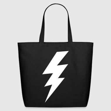 thunder lightning bolt flash - Eco-Friendly Cotton Tote