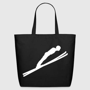 jump ski jumping  - Eco-Friendly Cotton Tote