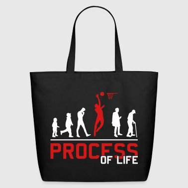 Basketball Evolution basketball player - Eco-Friendly Cotton Tote