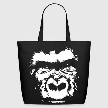 gorilla face - Eco-Friendly Cotton Tote