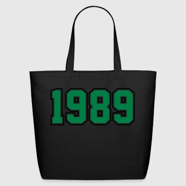 1989 | Year of Birth | Birth Year | Birthday - Eco-Friendly Cotton Tote