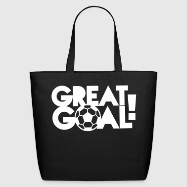 great goal! with soccer ball! - Eco-Friendly Cotton Tote