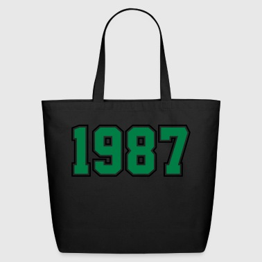 1987 | Year of Birth | Birth Year | Birthday - Eco-Friendly Cotton Tote