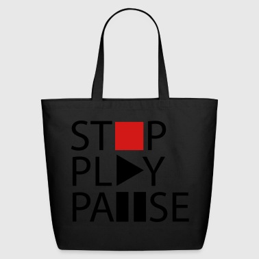 Stop play pause - Eco-Friendly Cotton Tote