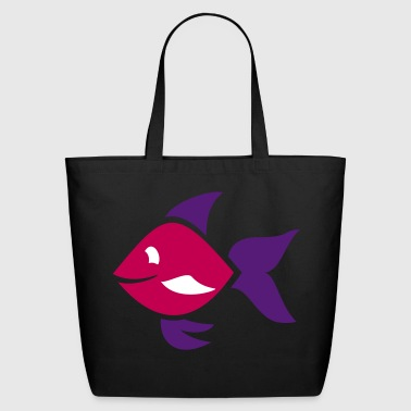 Fish - ornamental fish - aquarium - Eco-Friendly Cotton Tote