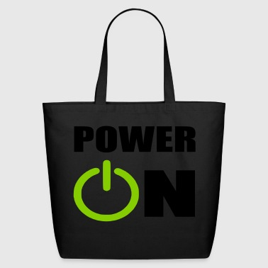 power on - Eco-Friendly Cotton Tote