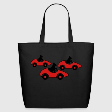 race race car driving license fast dog cute sweet - Eco-Friendly Cotton Tote