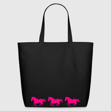 Three Horses Galloping - Eco-Friendly Cotton Tote