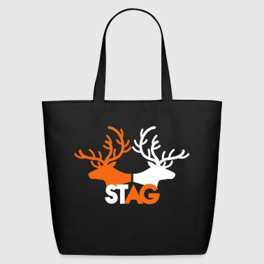 STAG double stag two reindeer  - Eco-Friendly Cotton Tote