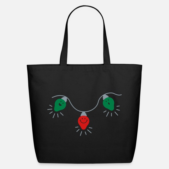 Light Bags & Backpacks - Christmas Lights - Eco-Friendly Tote Bag black