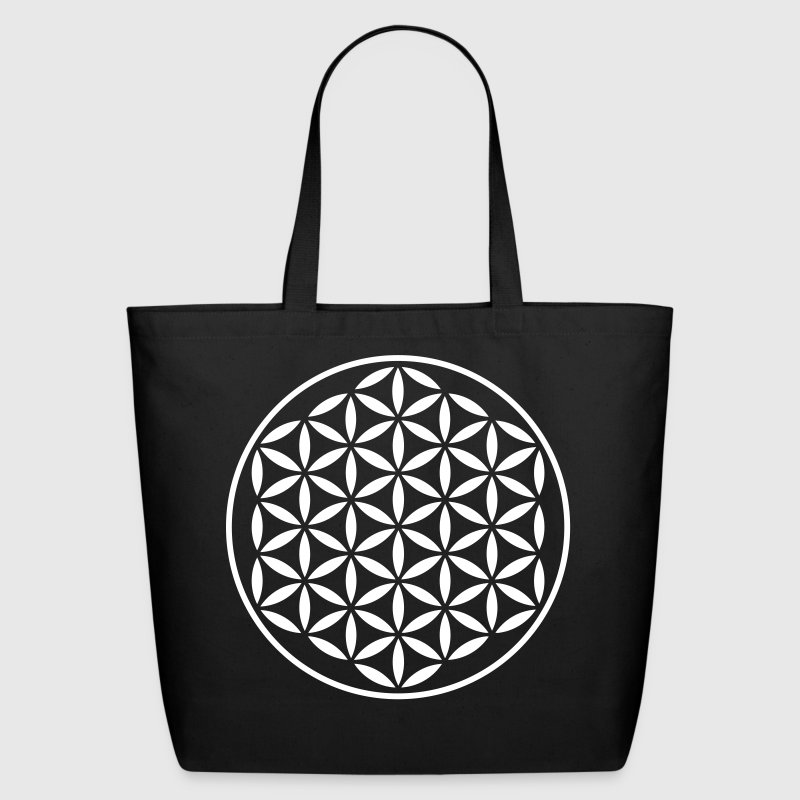 Flower Of Life - vector kompact - Eco-Friendly Cotton Tote