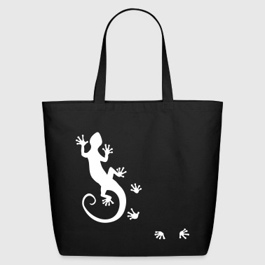 running gecko - Eco-Friendly Cotton Tote