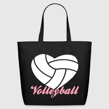 volleyball heart volleyball - Eco-Friendly Cotton Tote