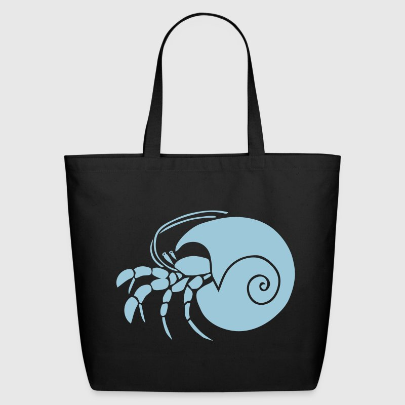 hermit crab crayfish cancer shrimp prawn lobster ocean snail conch seafood sea food shellfish - Eco-Friendly Cotton Tote