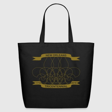 Fleur De Lis New Orleans Tricentennial 1718-2018 - Eco-Friendly Cotton Tote