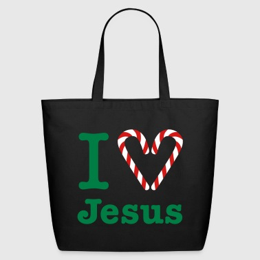 Gladditudes I Heart Jesus (for dark) - Eco-Friendly Cotton Tote