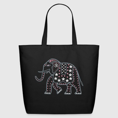 Indie Pop Elephant - Eco-Friendly Cotton Tote