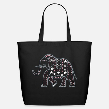 Indie Indie Pop Elephant - Eco-Friendly Cotton Tote