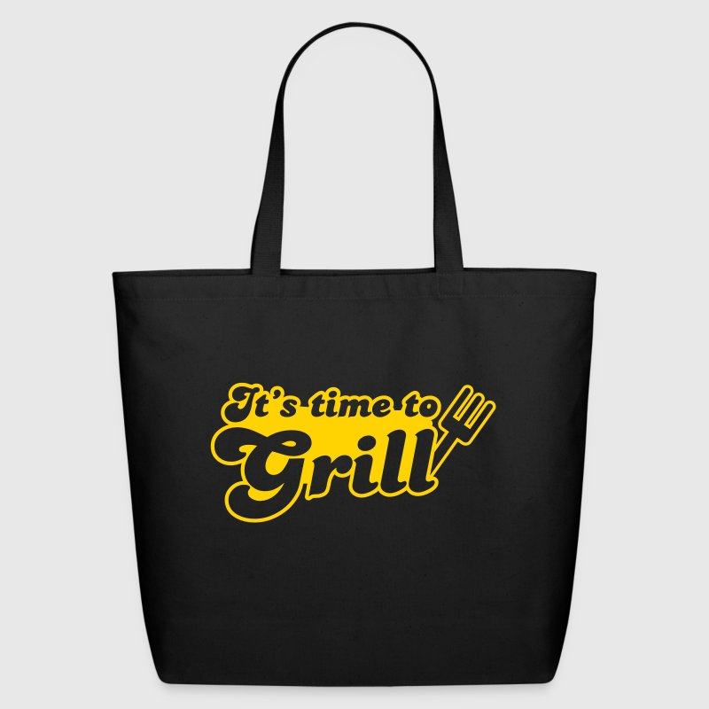 it's time to grill with bbq fork - Eco-Friendly Cotton Tote