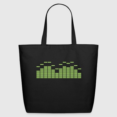 Equalizer Frequency DJ Sound Music Beat Pop Techno discjockey record - Eco-Friendly Cotton Tote