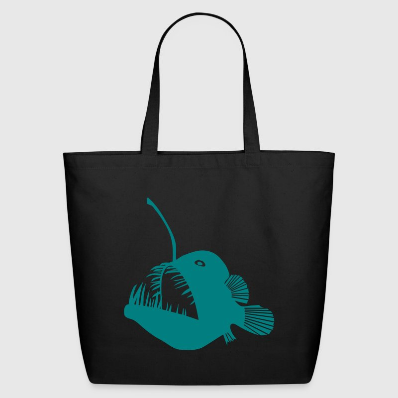 anglerfish frogfish sea devil deep sea angler monkfish fishing fisherman monster - Eco-Friendly Cotton Tote