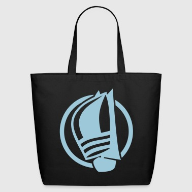 Sailing logo with sailing boat - Eco-Friendly Cotton Tote