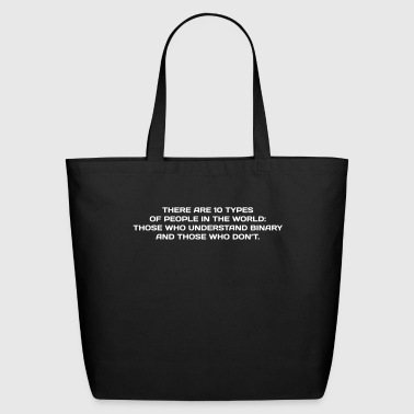NERD HUMOR: Binary Humor - Eco-Friendly Cotton Tote