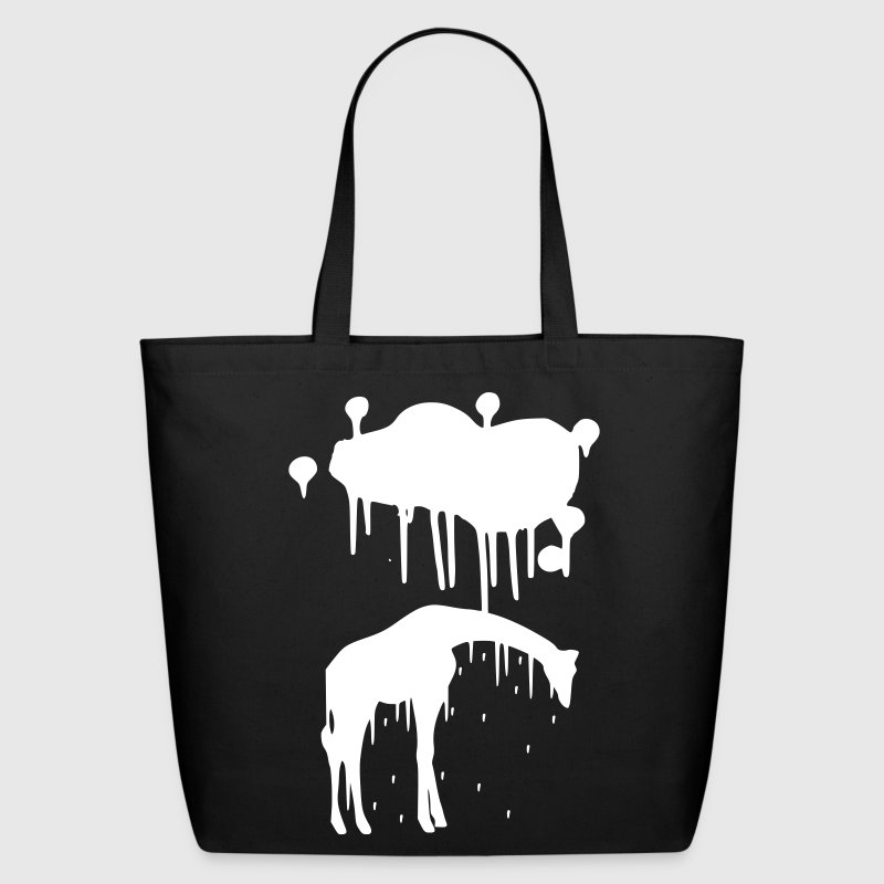 Giraffe Paint Splatter Animal Graphic Design Vector - Eco-Friendly Cotton Tote