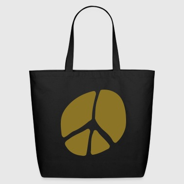 Unusual Peace Symbol In Silhouette - Eco-Friendly Cotton Tote