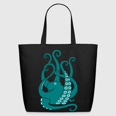 octopus squid cuttlefish calamary scuba diving - Eco-Friendly Cotton Tote